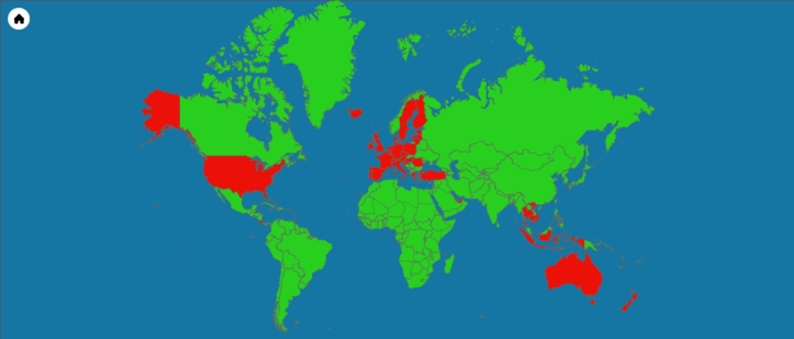 The countries I've visited so far... (source - amcharts.com)