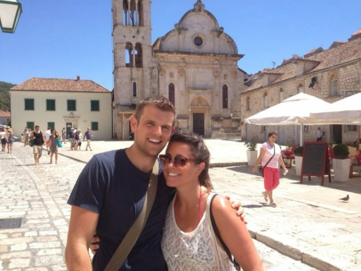 My Croatian 'bump' in Hvar – Heather from school! (source – Pulped Travel)