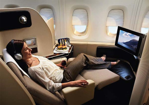 The luxury of first class travel (source - images.smh.com.au)