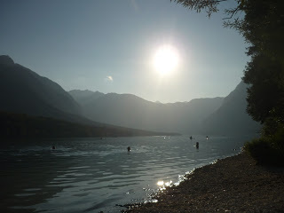 Something I learnt travelling…Slovenia is beautiful! The sun setting over the gorgeous Lake Bohinj(source - Pulped Travel)