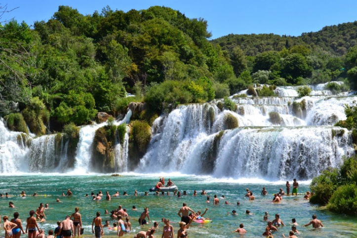 The Skradinski Buk waterfall at the Krka National Park (source – Pulped Travel)
